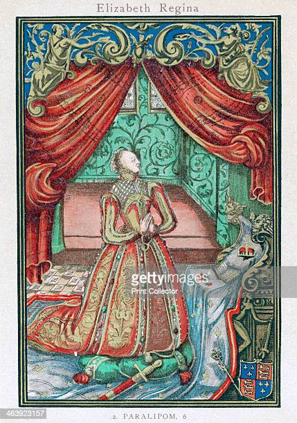 Elizabeth I, Queen of England and Ireland, 1569. Elizabeth , Queen from 1558, at prayer. Frontispiece to Christian Prayers.