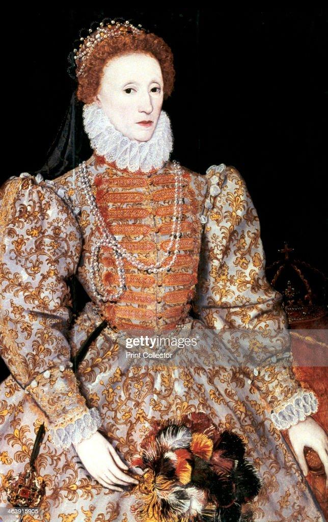 Elizabeth I, Queen of England and Ireland, c1588. : News Photo