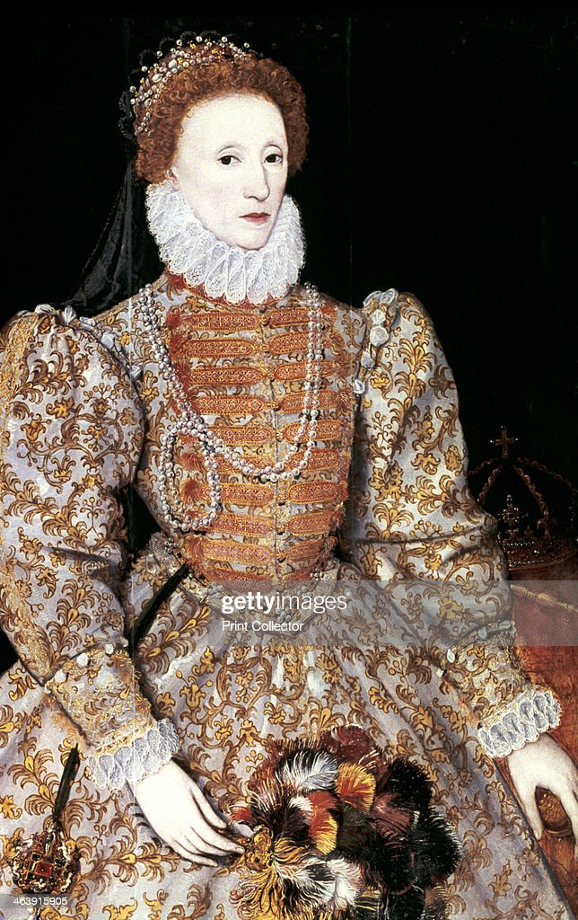 Elizabeth I, Queen of England and Ireland, c1588. The Darnley portrait, artist unknown. The last Tudor monarch, Elizabeth I (1533-1603) ruled from 1558 until 1603. From the National Portrait Gallery.