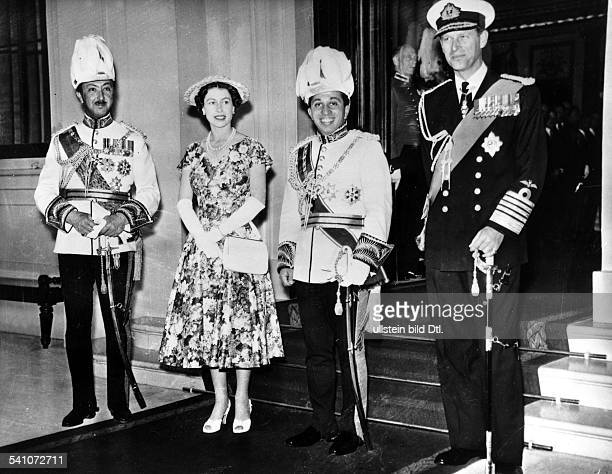 Elizabeth II *Queen of the United Kingdom since 1953LR Crown Prince AbdulIllah of Iraq the Queen King Faisal of Iraq Prince Philip