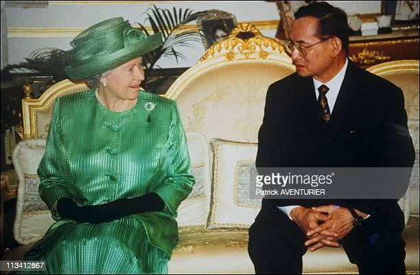 Elizabeth II In Thailand On October 28th,1996 - With King Bhumibol