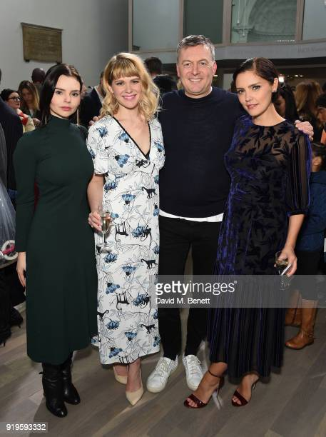 Elizabeth Ilsley Hannah Arterton Markus Lupfer and guest attend the Markus Lupfer show during London Fashion Week February 2018 at The Swiss Church...