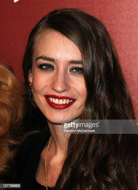 Elizabeth Jagger and Jerry Hall open the Harrods Winter sale at Harrods on December 27 2010 in London England
