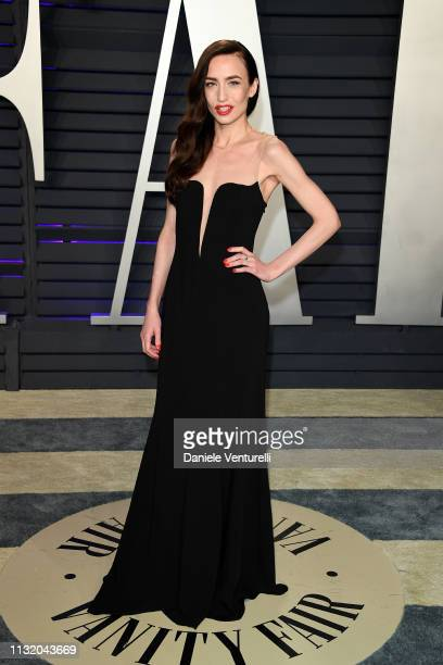 Elizabeth Jagger attends 2019 Vanity Fair Oscar Party Hosted By Radhika Jones Arrivals at Wallis Annenberg Center for the Performing Arts on February...