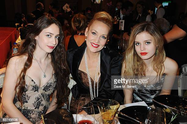 Elizabeth Jagger Jerry Hall and Georgia May Jagger attend a cocktail reception as Vivienne Westwood presented her Gold Label Collection in...