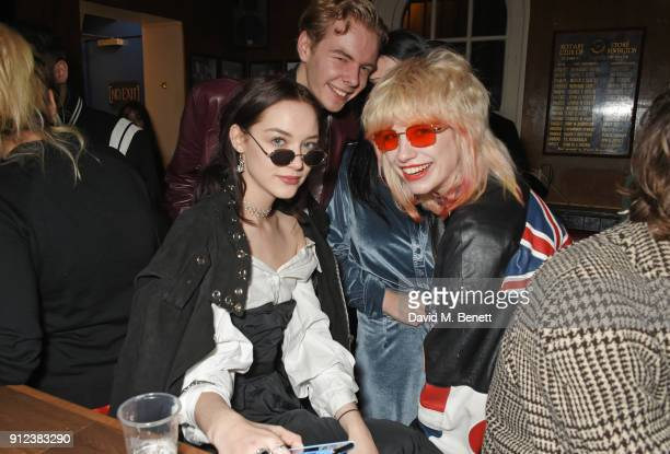 Elizabeth Jane Bishop and Charlie Barker attend the ALEXACHUNG Fantastic collection party on January 30 2018 in London England