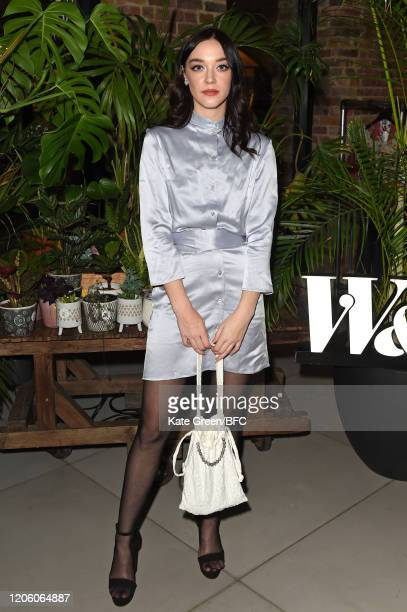 Elizabeth Jane Bishop attends the Wolf Badger 10th Year Anniversary party during London Fashion Week February 2020 at Coal Drops Yard on February 13...