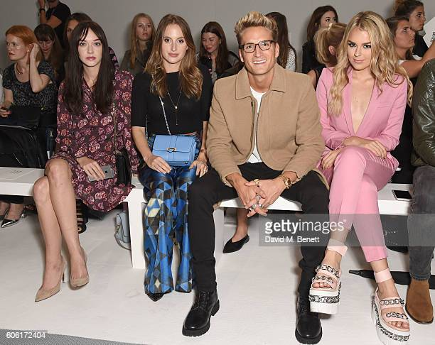 Elizabeth Jane Bishop Rosie Fortescue Oliver Proudlock and Tallia Storm attend the DAKS runway show during London Fashion Week Spring/Summer...