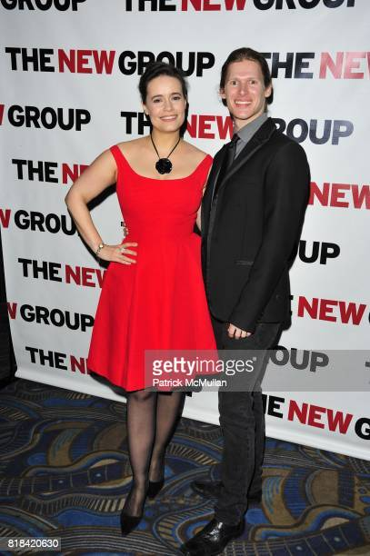 Elizabeth Jasicki and Lucas Steele attend The New Group 2010 Gala Benefit honors ROBYN GOODMAN at BB King Blues Club Grill on January 25 2010 in New...