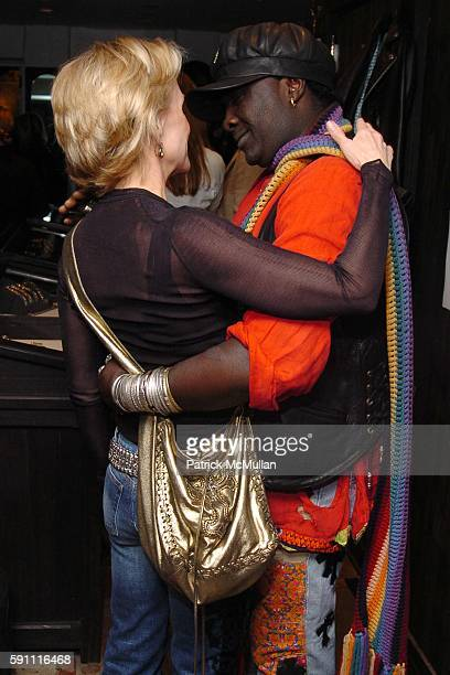 Elizabeth Johnson and Moko attend CHROME HEARTS Party for ELLE Accessories Magazine hosted by Richard Laurie Lynn Stark at Chrome Hearts on April 14...