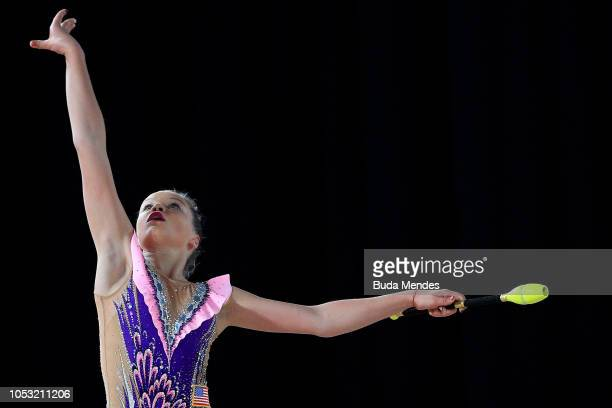 Elizabeth Kapitonova of United States competes in Individual AllAround Qualification Subdivision 2 Rotation 3 during Day 4 of Buenos Aires 2018 Youth...