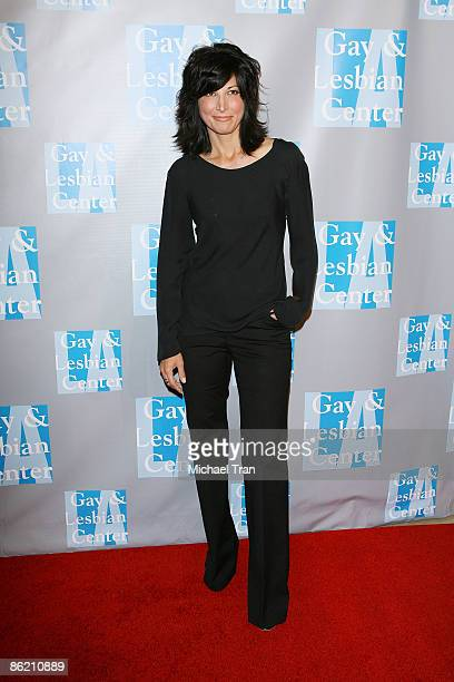 Elizabeth Keener arrives to An Evening with Women Celebrating Art Music Equality presented by the LA Gay Lesbian Center held at The Beverly Hilton...