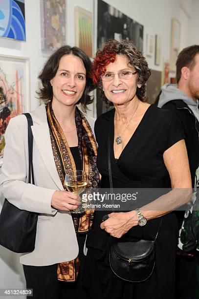 Elizabeth Kellen and Susan Hort attend The Rema Hort Mann Foundation LA Artist Initiative Benefit Auction on November 21 2013 in Los Angeles...