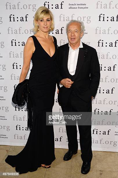 Elizabeth Kergolay and Giles Bensimon attend the 2015 Trophee Des Arts gala at The Plaza Hotel on November 19 2015 in New York City