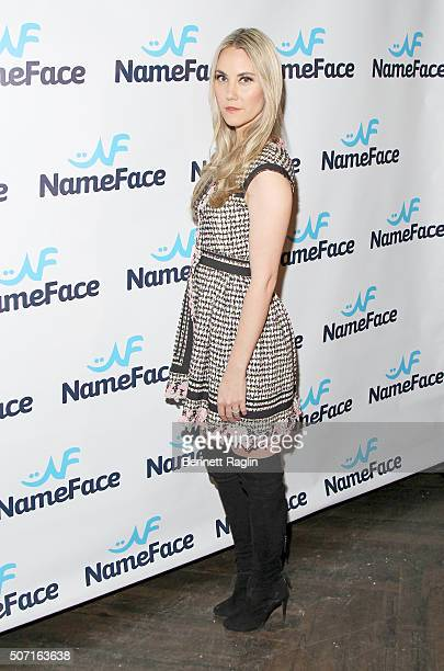 Elizabeth Kurpis attends the NameFacecom launch party at No 8 on January 27 2016 in New York City