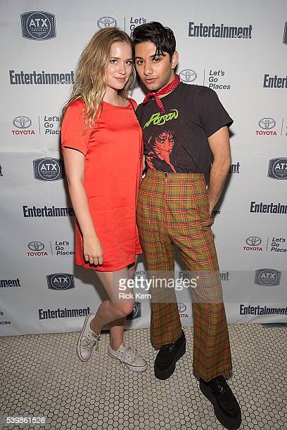 Elizabeth Lail and Mark Indelicato attend the Ugly Betty Reunion After Party presented with Entertainment Weekly sponsored by Toyota at the ATX...