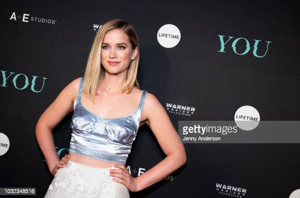 """Elizabeth Lail attends """"You"""" New York series premiere on September 6, 2018 in New York City."""