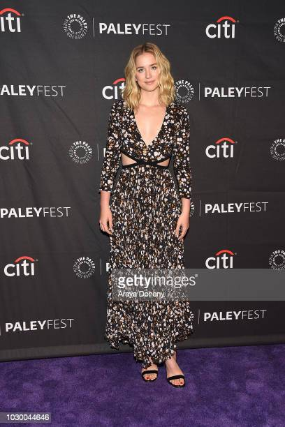 Elizabeth Lail from 'YOU' attends The Paley Center for Media's 2018 PaleyFest Fall TV Previews Lifetime at The Paley Center for Media on September 9...