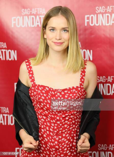 Elizabeth Lail poses for a photo during a SAGAFTRA Foundation Conversations Screening of You on October 11 2018 in Los Angeles California