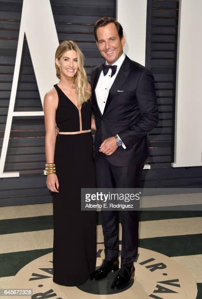 Elizabeth Law and actor Will Arnett attends the 2017 Vanity Fair Oscar Party hosted by Graydon Carter at Wallis Annenberg Center for the Performing...