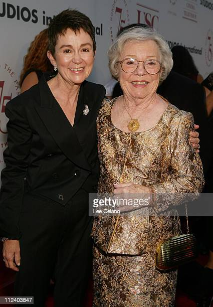 Elizabeth M. Daley, Dean of USC School of Cinema-Television and Patricia Hitchcock O'Connell, Alfred Hitchcock's daughter