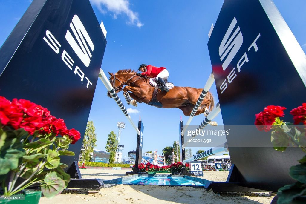 Elizabeth MADDEN of United States riding Darry Lou during the Longines FEI Nations Cup Jumping Final on September 28, 2017 in Barcelona, Spain.