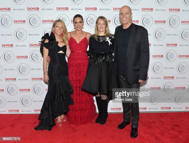 Elizabeth Manice Katharina Harf Carina Ortel and Peter Harf attend the 2017 DKMS Blood Ball at Spring Place on October 26 2017 in New York City