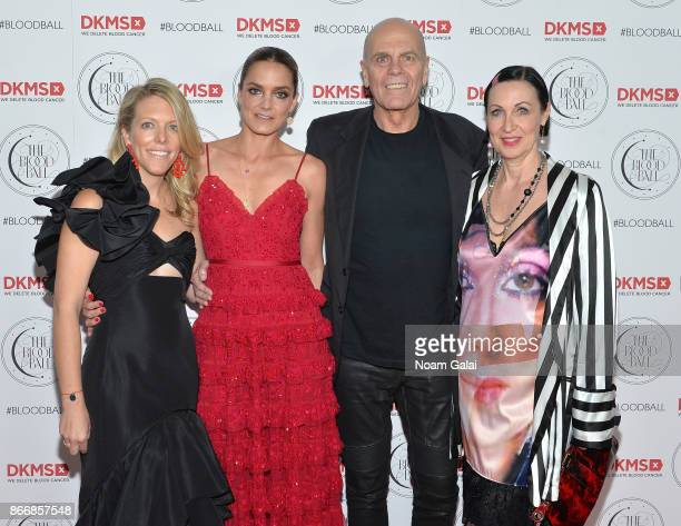 Elizabeth Manice Katharina Harf Peter Harf and Tina Harf attend the 2017 DKMS Blood Ball at Spring Place on October 26 2017 in New York City