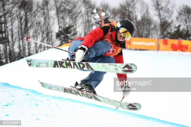 Elizabeth Marian Swaney of Hungary competes during the Freestyle Skiing Ladies' Ski Halfpipe Qualification on day 10 of the PyeongChang 2018 Winter...