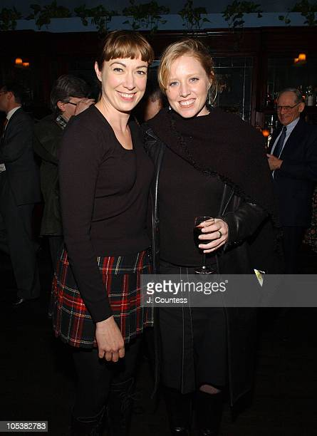 Elizabeth Marvel and Amy Redford during A Second Hand Memory After Party at NA in New York City New York United States