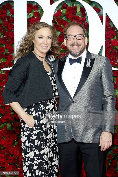 Elizabeth Marvel and Bill Camp attends the2016 Tony Awards Red Carpet at The Beacon Theatre on June 12 2016 in New York City