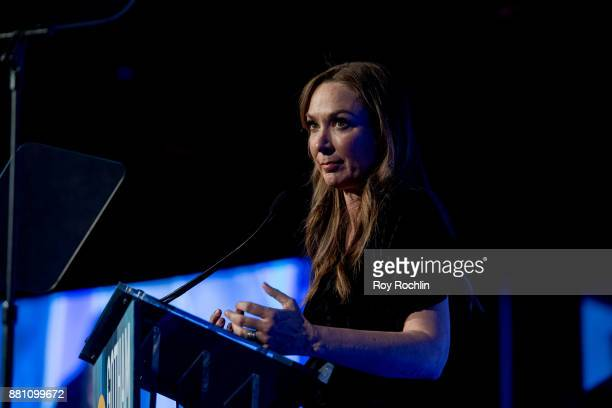 Elizabeth Marvel speaks onstage during IFP's 27th Annual Gotham Independent Film Awards at Cipriani Wall Street on November 27 2017 in New York City
