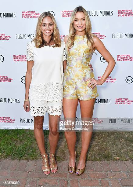 Elizabeth Masucci and Katrina Bowden attend Public Morals a TNT Original Series screening presented by the Hamptons International Film Festival and...