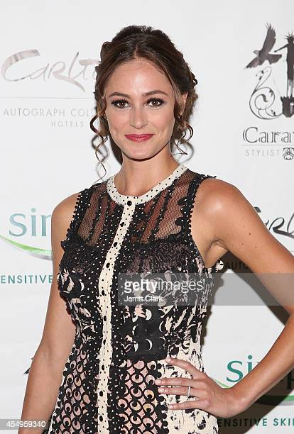 Elizabeth Masucci attends the Simple Skincare Caravan Stylist Studio Fashion Week Event on September 7 2014 in New York City