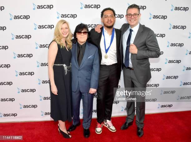 ASCAP CEO Elizabeth Matthews ASCAP Executive Vice President Membership John Titta Cardo and ASCAP Vice President Pop/Rock Marc EmertHutner attends...