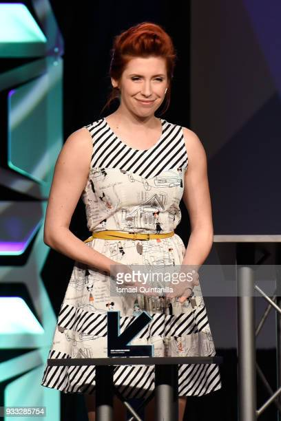 Elizabeth Maxwell speaks onstage at SXSW Gaming Awards during SXSW at Hilton Austin Downtown on March 17 2018 in Austin Texas