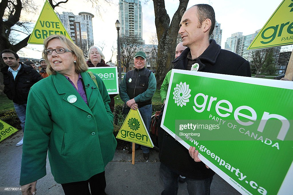 Canadian Green Party Leader Elizabeth May Interview : News Photo