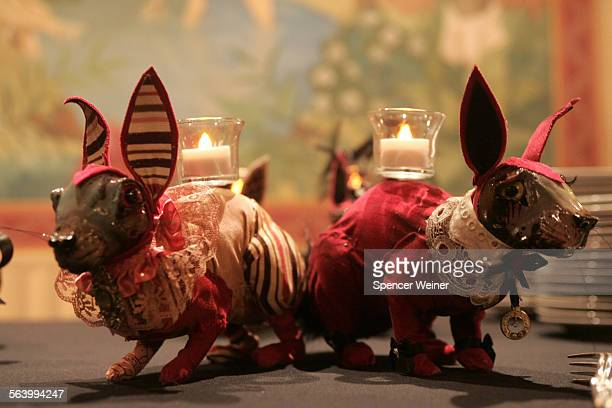 Elizabeth McGarth created rabbit Sculptures for Jessika formerly of Marilyn Manson's band Jessika married Saturday October 13 2007The ceremony was...
