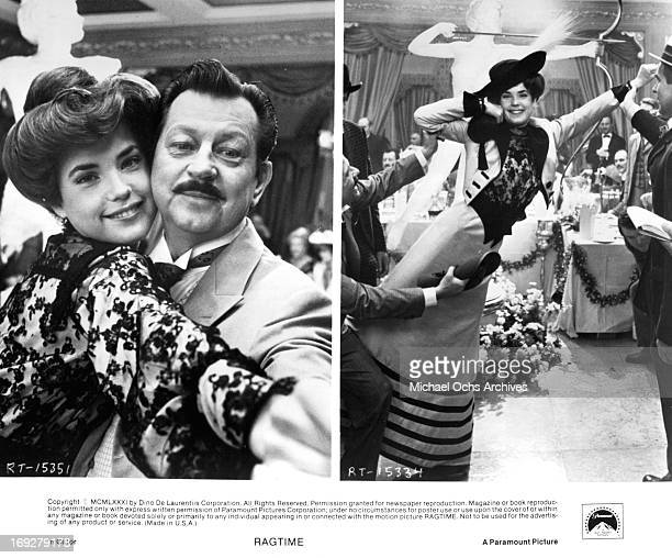 Elizabeth McGovern and Donald O'Connor in various scenes from the film 'Ragtime' 1981 Photo by Paramount/Getty Images