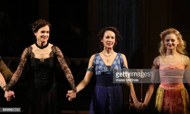 Elizabeth McGovern Anna Camp and Anna Baryshnikov during the Broadway Opening Night performance Curtain Call Bows for The Roundabout Theatre Company...