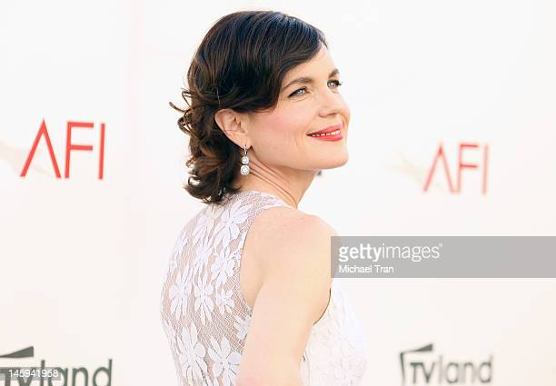 Elizabeth McGovern arrives at TV Land Presents: AFI Life Achievement Award honoring Shirley MacLaine held at Sony Studios on June 7, 2012 in Los...
