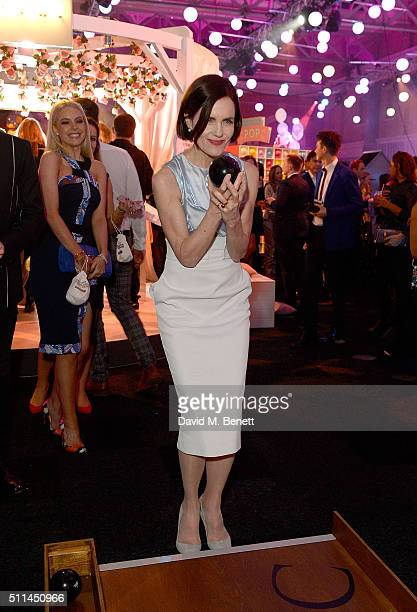 Elizabeth McGovern at The Naked Heart Foundation's Fabulous Fund Fair in London at Old Billingsgate Market on February 20 2016 in London England