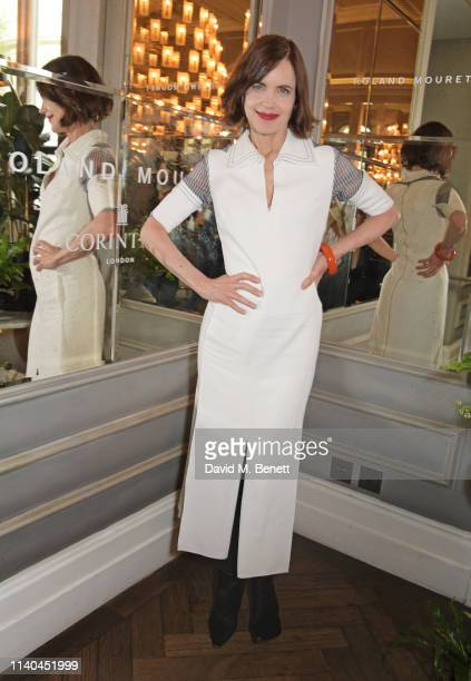 Elizabeth McGovern attends a luncheon hosted by Roland Mouret in celebration of Women Filmmakers at the Corinthia Hotel London on May 1, 2019 in...