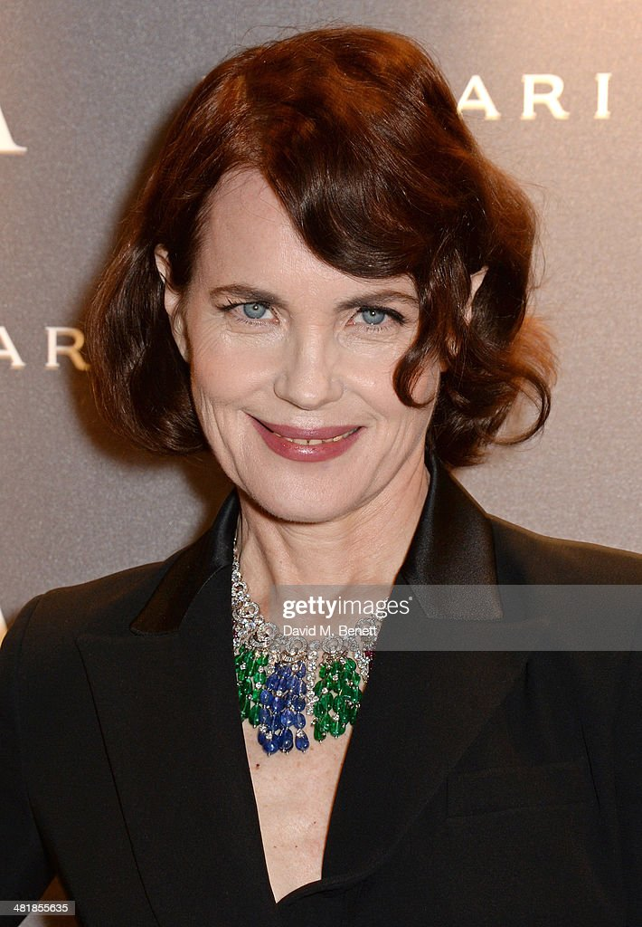 Elizabeth McGovern attends a private dinner celebrating the Victoria and Albert Museum's new exhibition 'The Glamour Of Italian Fashion 1945 - 2014' at Victoria and Albert Museum on April 1, 2014 in London, England.