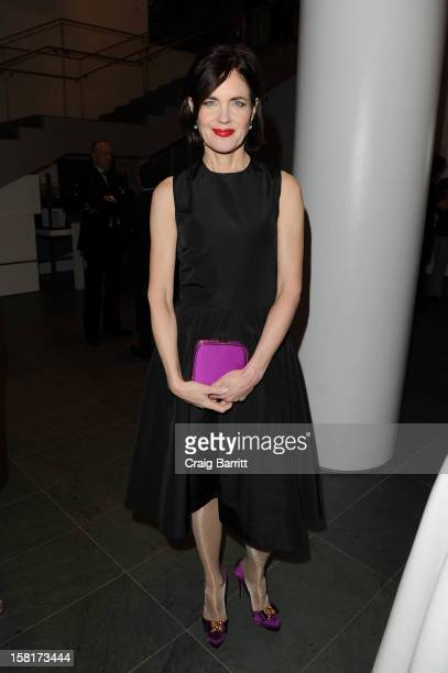 Elizabeth McGovern attends an evening with the cast and producers of PBS Masterpiece series 'Downton Abbey' hosted by Ralph Lauren Graydon Carter on...