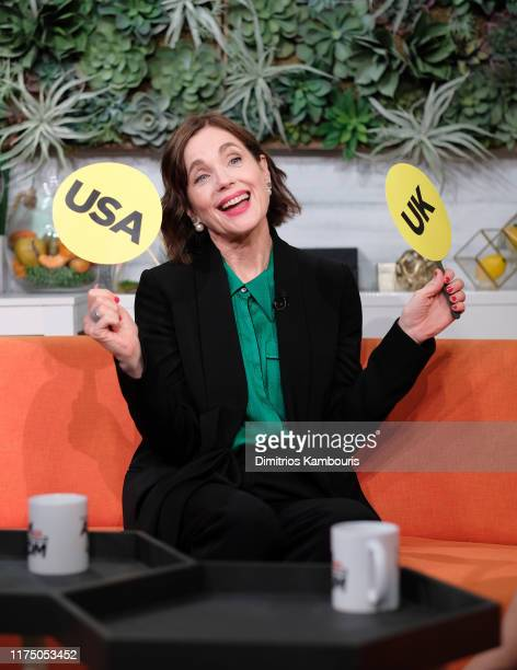 "Elizabeth McGovern attends BuzzFeed's ""AM To DM"" on September 16, 2019 in New York City."