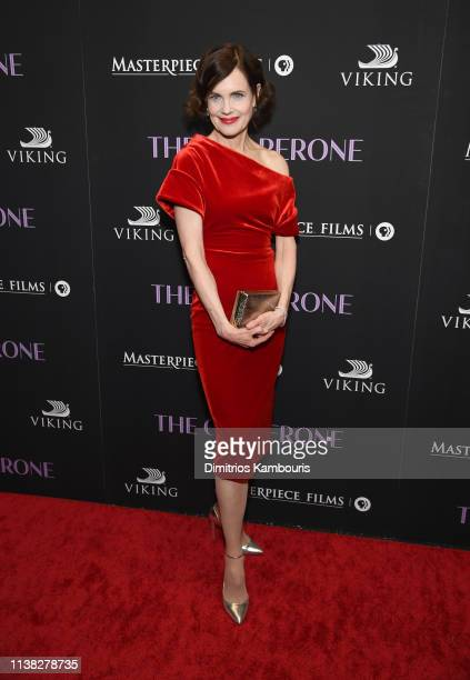 "Elizabeth McGovern attends ""The Chaperone"" New York Premiere at Museum of Modern Art on March 25, 2019 in New York City."