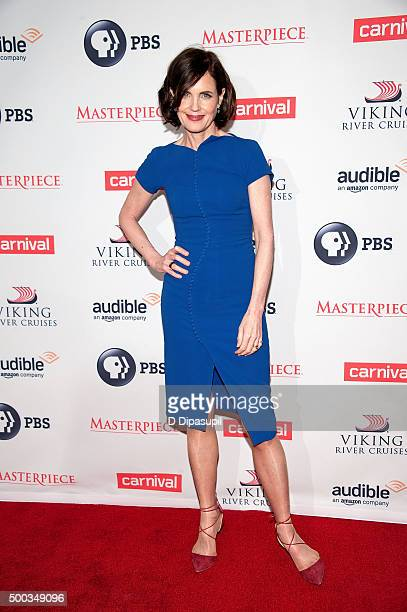 Elizabeth McGovern attends the 'Downton Abbey' series season six premiere at the Millenium Hotel on December 7 2015 in New York City