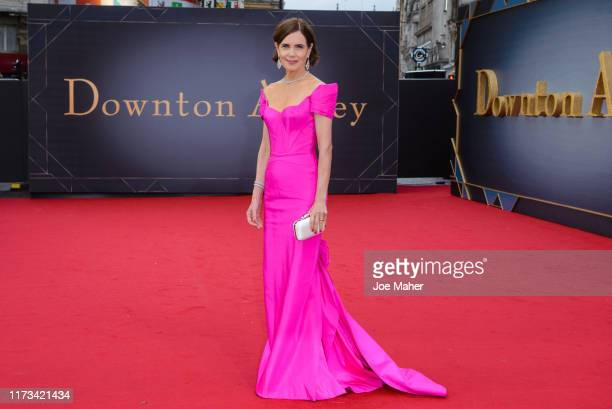 "Elizabeth McGovern attends the ""Downton Abbey"" World Premiere at Cineworld Leicester Square on September 09, 2019 in London, England."