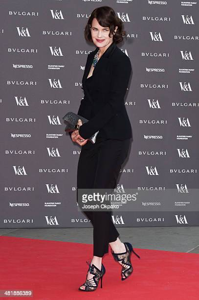 Elizabeth McGovern attends the preview of The Glamour of Italian Fashion exhibition at Victoria Albert Museum on April 1 2014 in London England